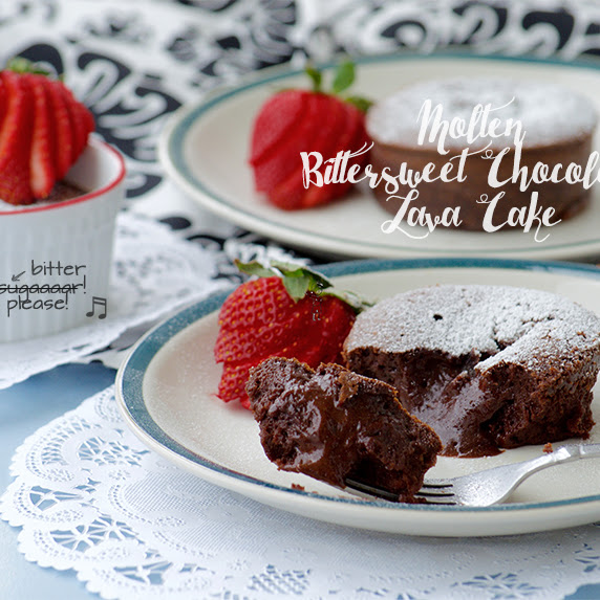 Molten Bittersweet Chocolate Lava Cake