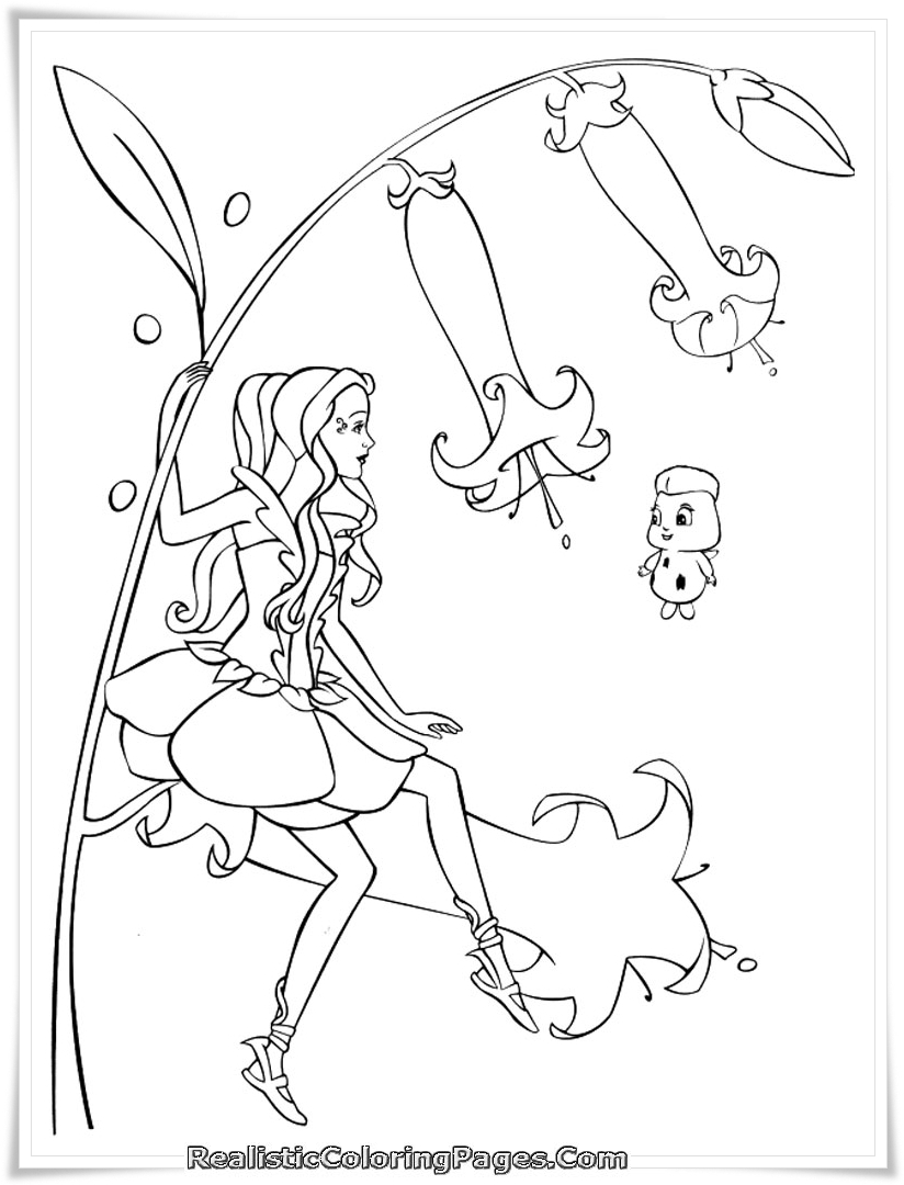 Barbie Fairytopia Printable Coloring Pages Realistic