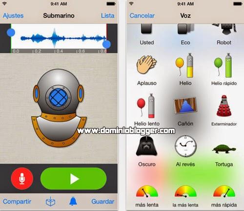 Cambia la voz en tu telefono movil con Voice Changer Plus