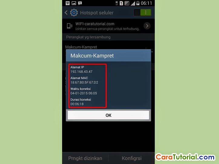 Melihat Siapa yang Terhubung ke Wi-Fi Hotspot Android