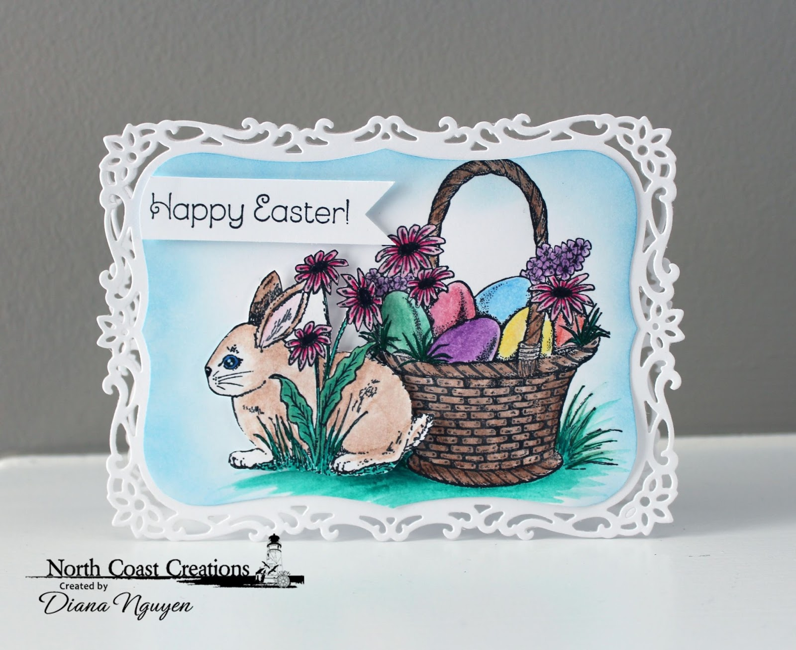 Stamps - North Coast Creations Hoppy Easter, Easter Basket