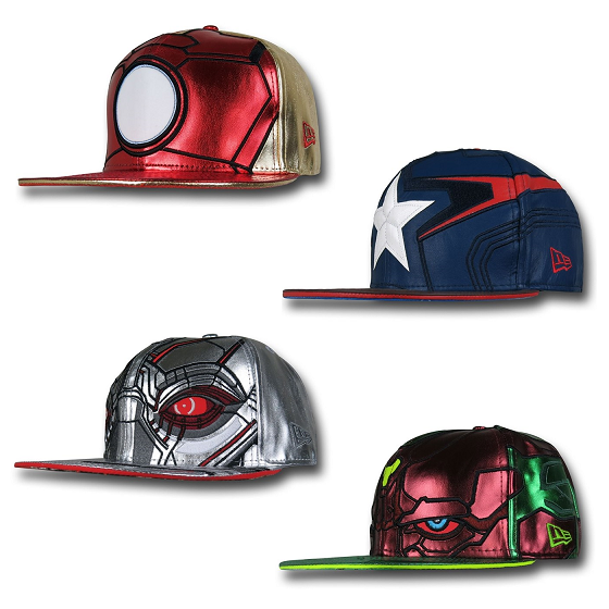 Marvel's Avengers Age of Ultron Armor 59Fifty Cap Collection by New Era - Iron Man, Captain America, Ultron & Vision