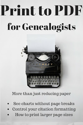 Print to PDF for Genealogists