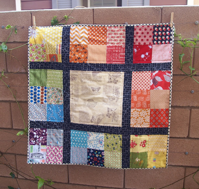 patchwork color study baby quilt