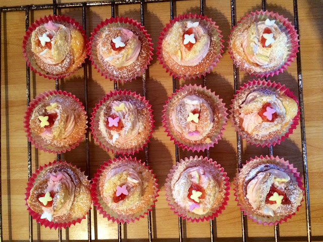 Vanilla and strawberry jam butterfly cupcake recipe - Bearded Couture