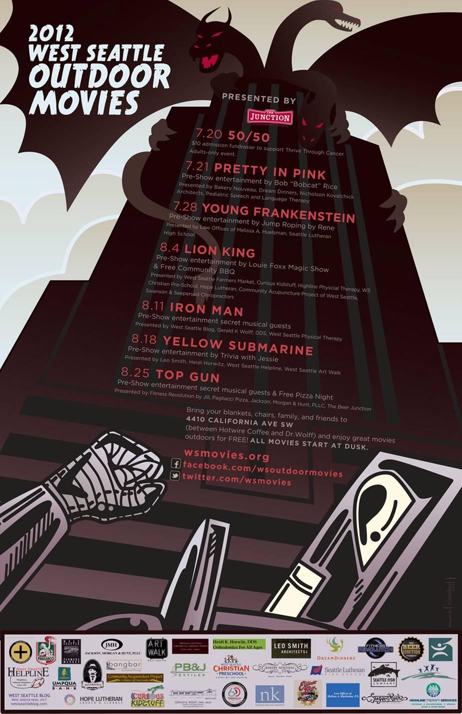 West Seattle Outdoor Movies | 2012 Schedule: <em>Young Frankenstein</em>, <em>Yellow Submarine</em>, <em>Iron Man</em>, & More