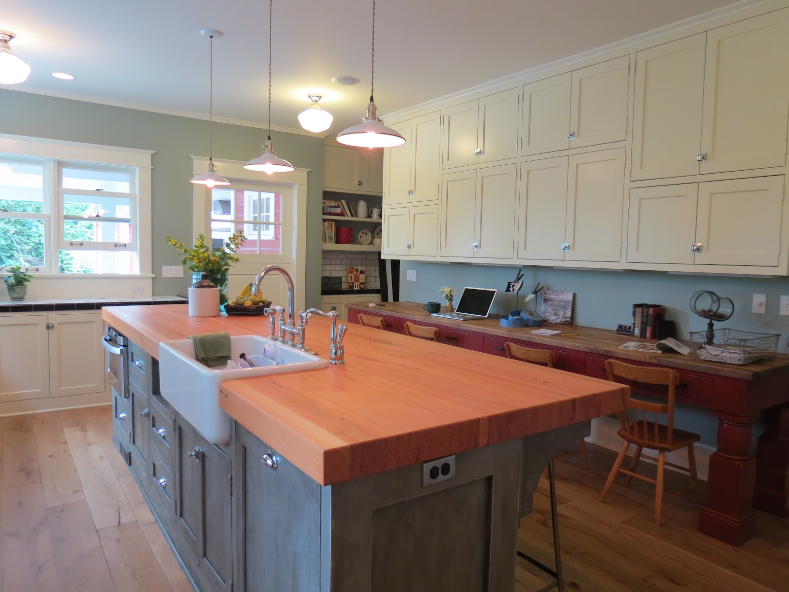 Remodeled Kitchen Island Salvaged Wood