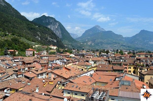 Riva del Garda, vista dalla Torre Apponale