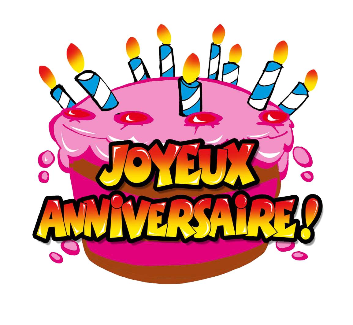 Gâteau d'anniversaire rose avec des bougies et le texte: Joyeux Anniversaire! - ツ Images de ...