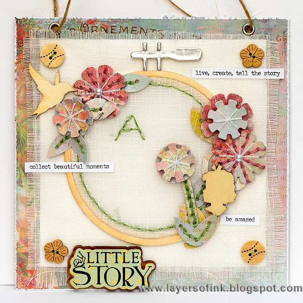 Layers of ink - Embroidery Hoop Tutorial by Anna-Karin