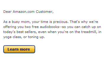 Amazon Mom email