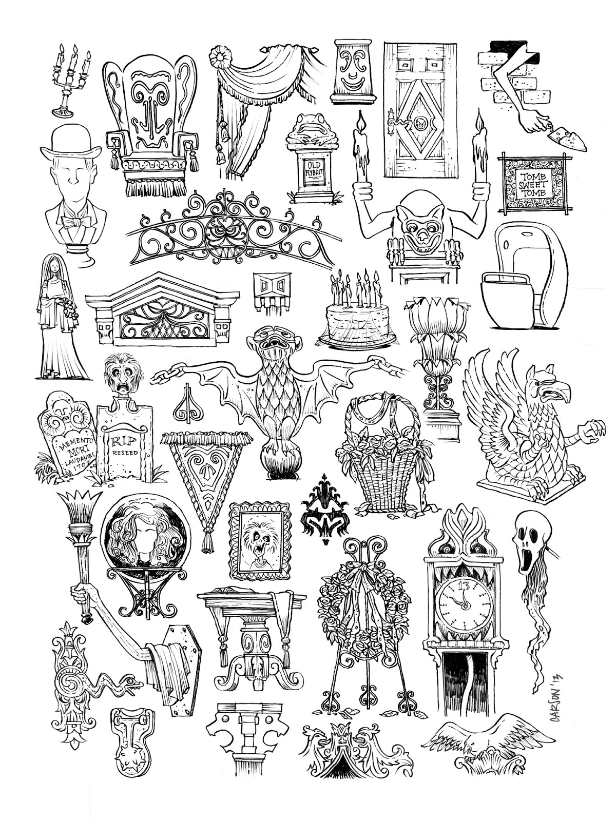 Don carson blog haunted mansion parts Haunted house drawing ideas