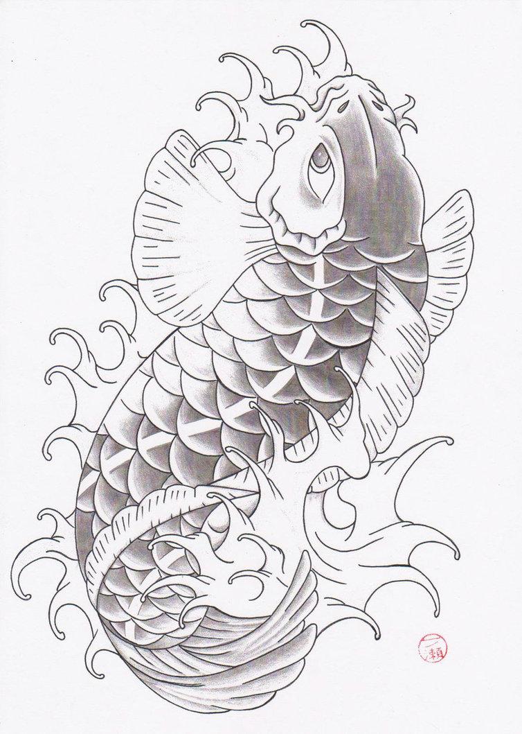 Forasteiro tattoo tattoo carpa for Japanese koi design