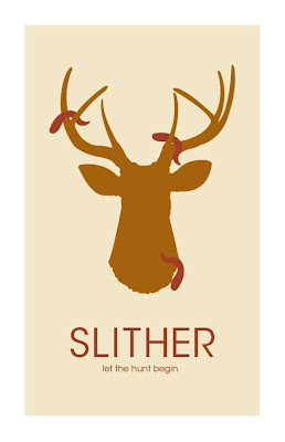 slithers poster with deer head and aliens