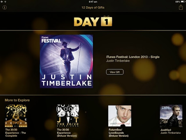 Apple's 12 Days Of Gifts Started With Justin Timberlake's iTunes Festival EP - Day 1