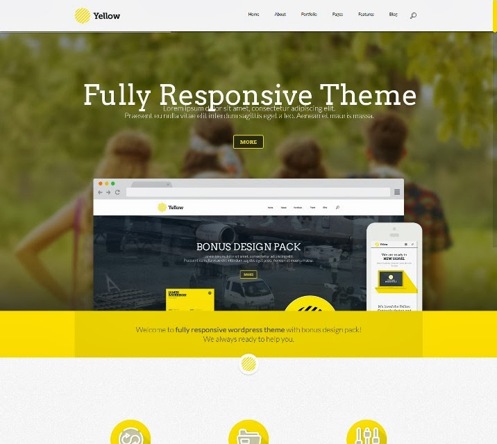 Fully Responsive WordPress Theme with Design Pack