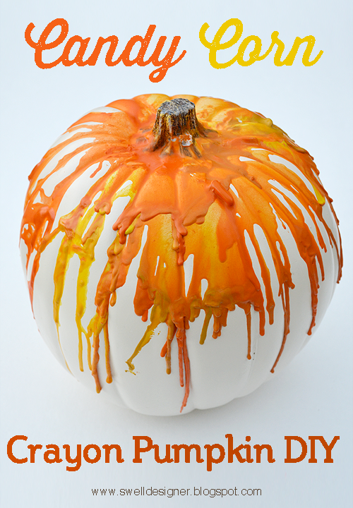 Crayon Drip Art Pumpkin Tutorial