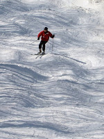 Howard skiing the mellow bumps below Paradise.   The Saratoga Skier and Hiker, first-hand accounts of adventures in the Adirondacks and beyond, and Gore Mountain ski blog.