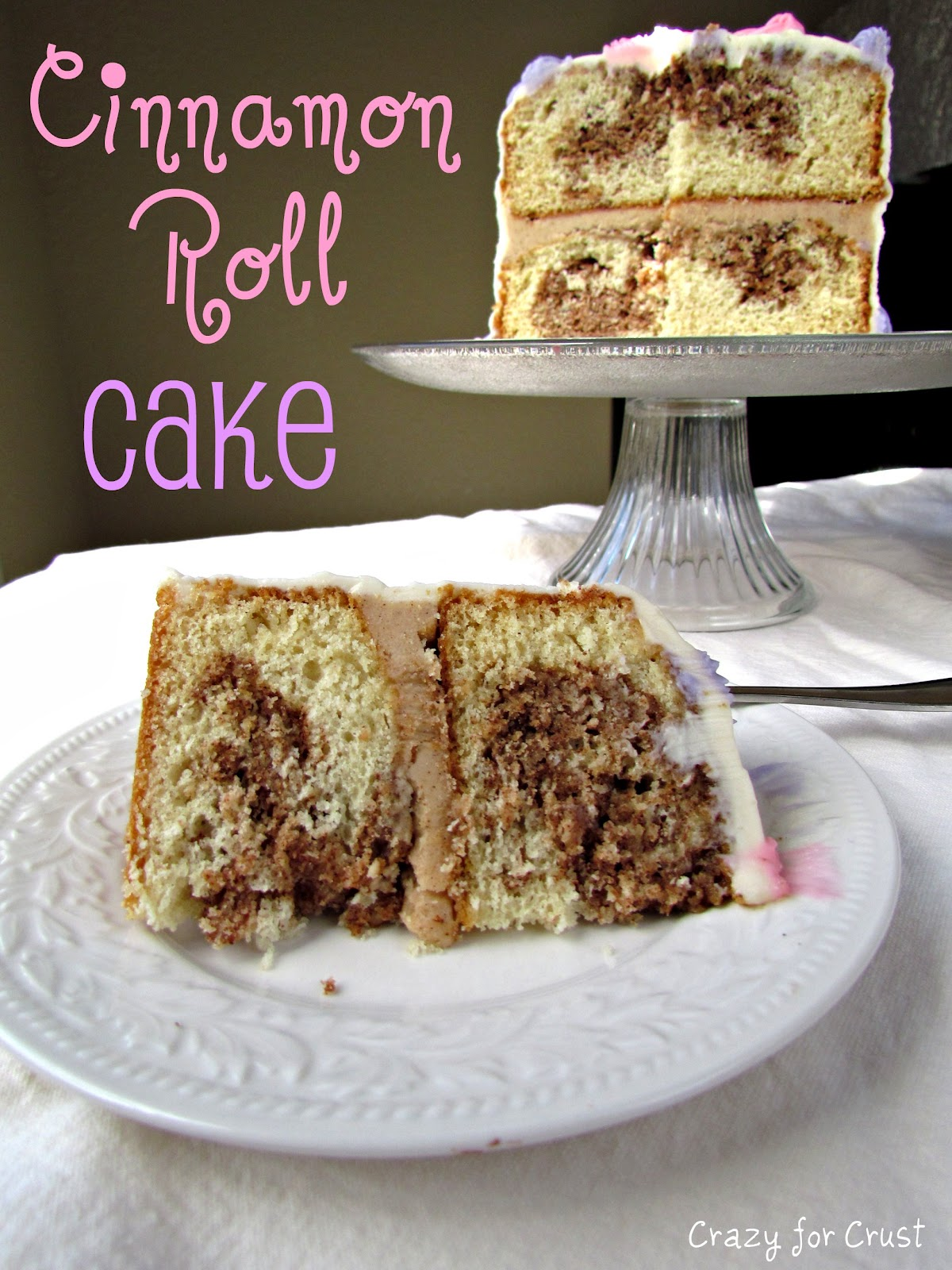 Cinnamon Roll Cake Crazy For Crust