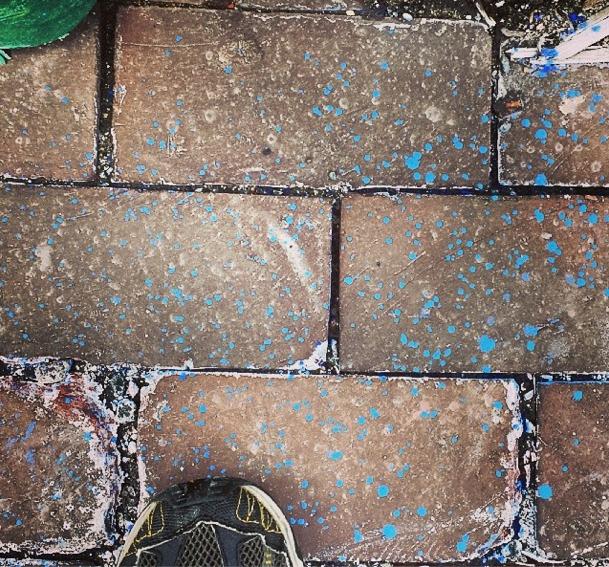 spilt paint