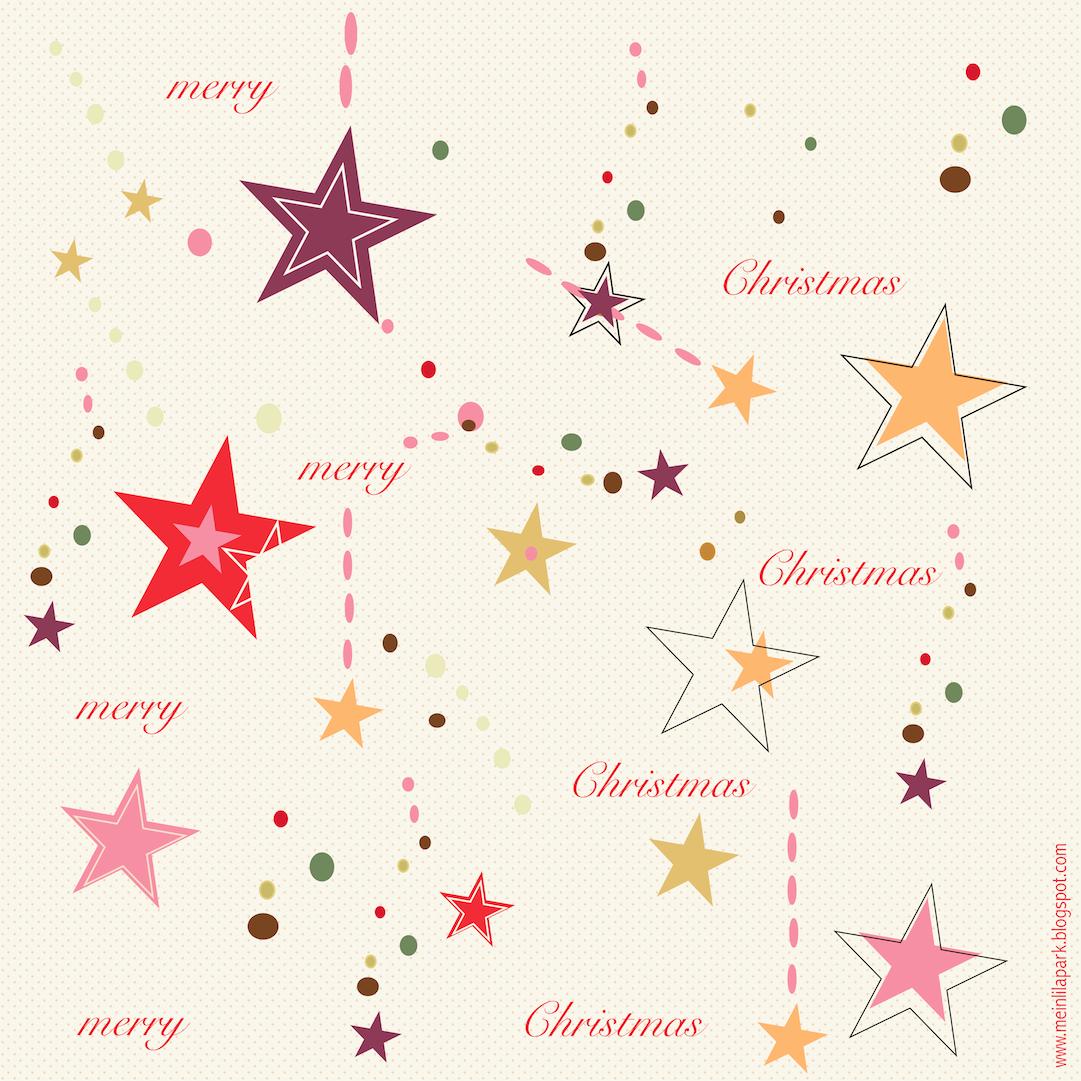 Free digital Christmas scrapbooking paper in star pop design ...