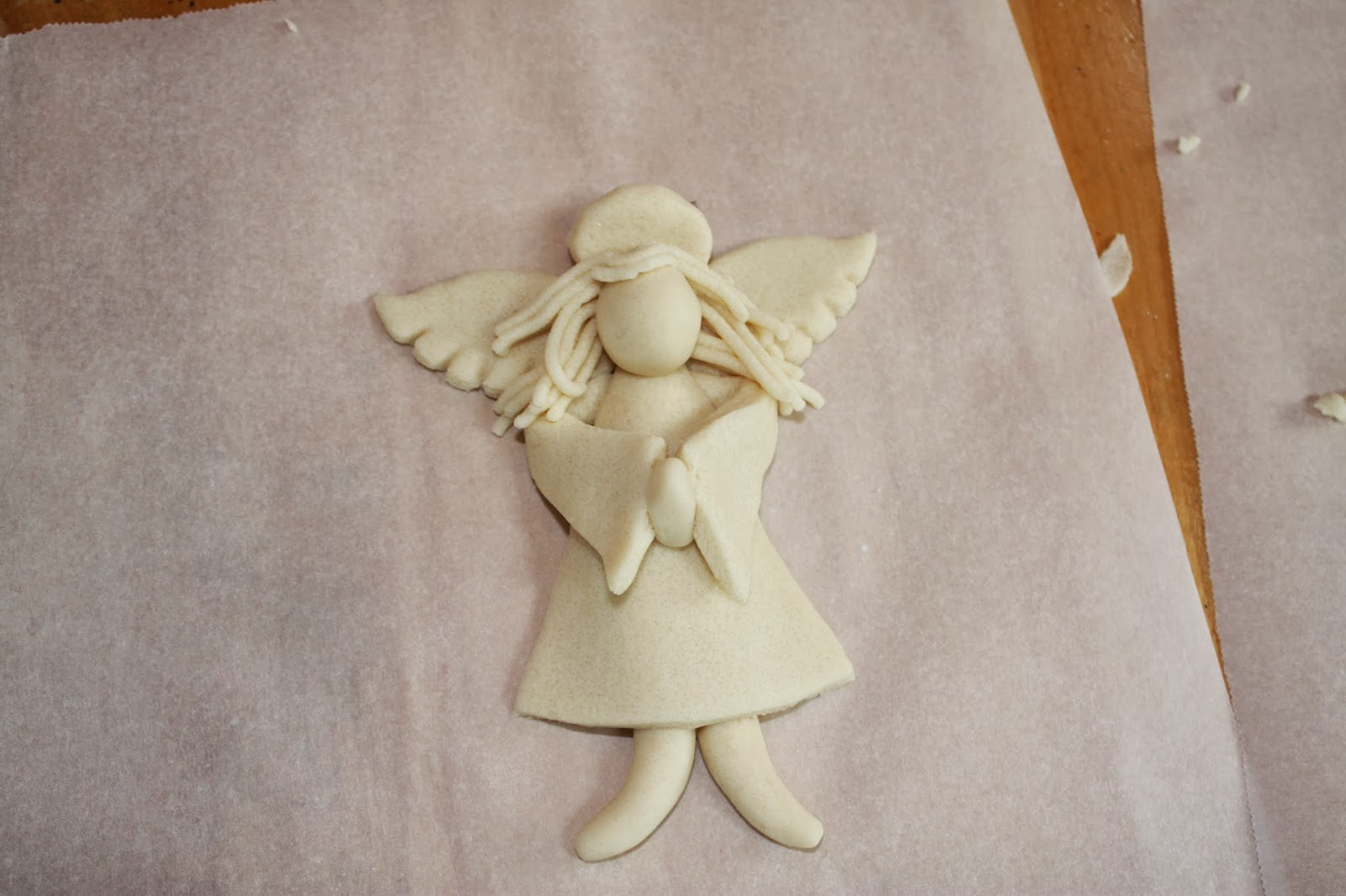 Поделки ангелов из соленого теста