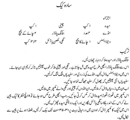 How To Make A Chocolate Cake Recipe In Urdu