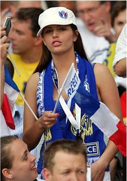 France girls fans Euro 2012