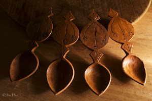 Apple wood spoons.