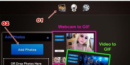 Opções para fazer gifs animados online