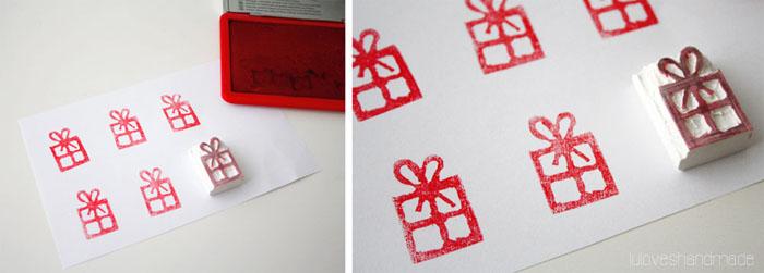 weihnachten diy stempel aus radiergummi basteln expli blog. Black Bedroom Furniture Sets. Home Design Ideas