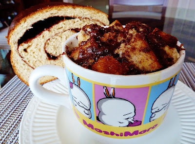 Microwave Streusel Topped French Toast in a Mug