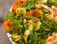 Salada de Abobrinha (vegana)