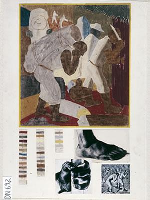 Cana, estudo cromático (1938) - Cândido Portinari