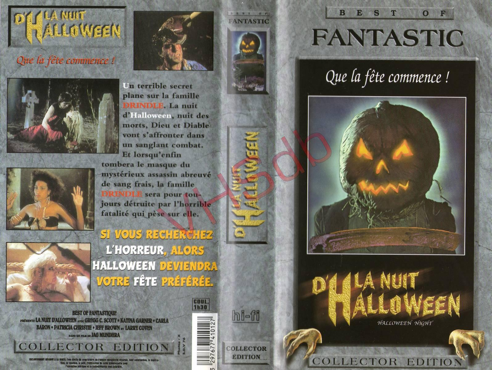 Hereu0027s The French VHS Cover Of 1988u0027s Halloween Night (aka Hack O Lantern)  That Uses Jack Ou0027s Front Cover: