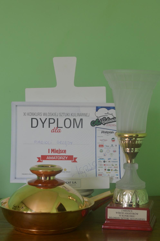 XI Konkurs Włoskiej Sztuki Kulinarnej wygrana i pierwsze  miejsce w konkursie