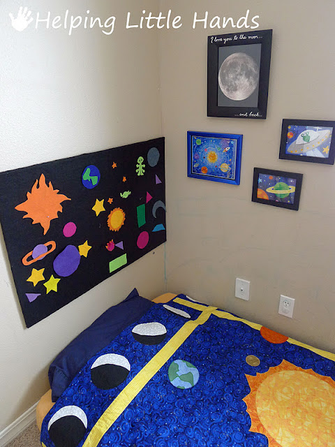 Pieces by polly i love you to the moon and back boys for Solar system quilt pattern