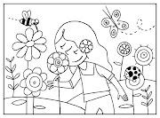 Primavera dibujos para colorear