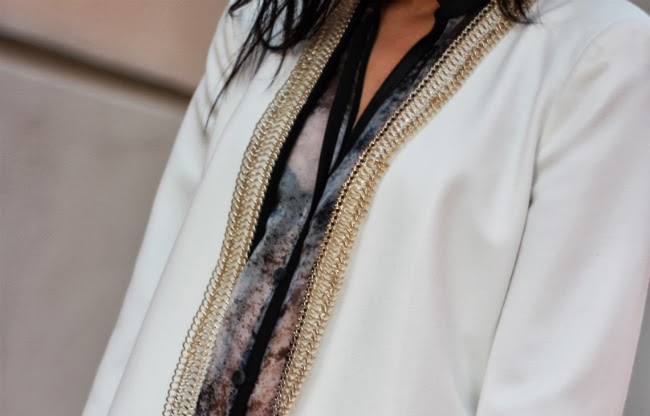 chain link lapel boyfriend blazer idea white outerwear
