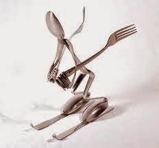 10 sendok garpu jadi pemain sky es