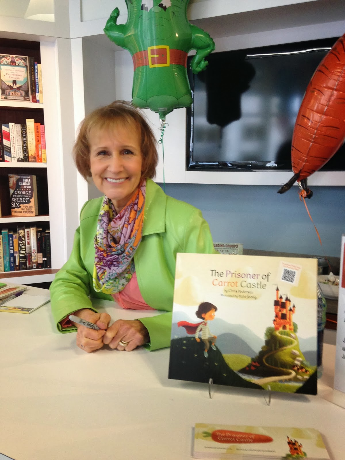 Book signing for The Prisoner of Carrot Castle