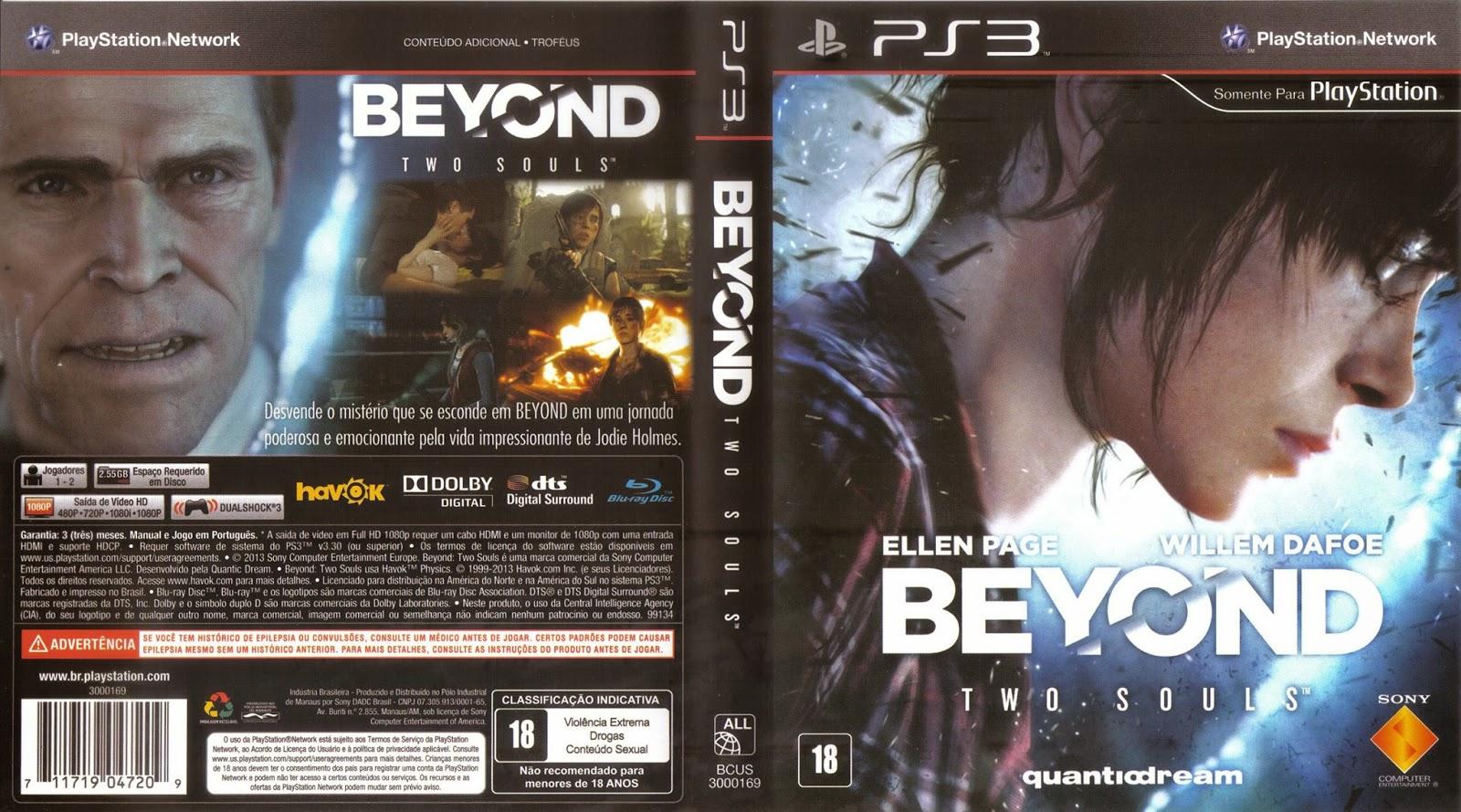 Capa Beyond Two Souls PS3