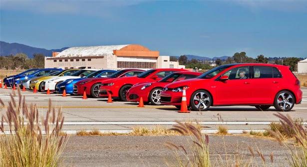 Volkswagen GTI, Alfa Romeo 4C, Chevrolet Camaro Z/28, Jaguar F-Type Coupe R, Porsche 911 Turbo S, Nissan GT-R Nismo, BMW M4, BMW i8, Subaru WRX STI, e o Ford Fiesta ST, a maior corrida do mundo, a melhor corrida de carros no mundo, corrida de carros, carros tunados, socado na rosca