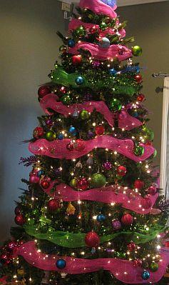 Arboles de navidad rosados - Imagenes de arboles navidad decorados ...
