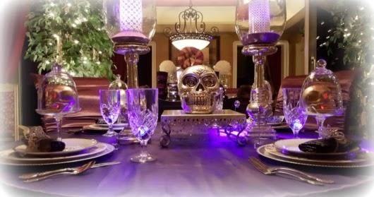 Purple Fantasy Halloween Table Life And Linda