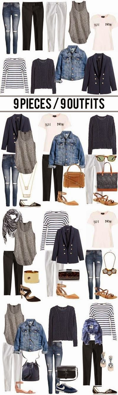 9 mix and match outfit story boards