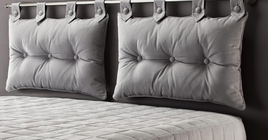 mobilier table tete de lit avec coussins. Black Bedroom Furniture Sets. Home Design Ideas