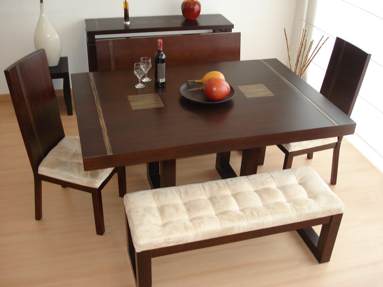 Dise o interior comedores for Comedores de madera nuevos