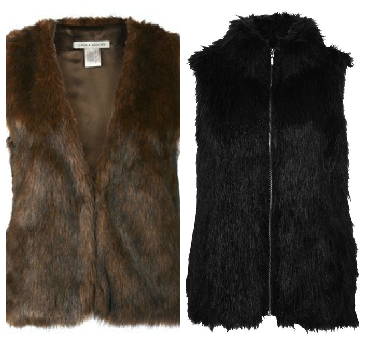 Buy River Island Women's Brown Faux Suede Faux Fur Gilet. Similar products also available. SALE now on!