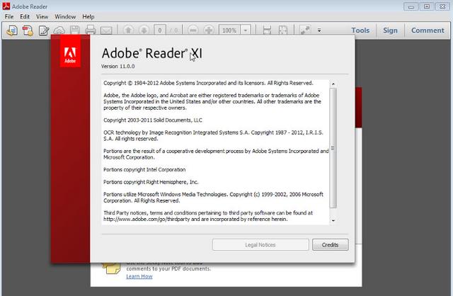 Download Aplikasi Adobe Reader 11.0.10 (Software Untuk Membuka File PDF) Terbaru 2015 Secara Gratis / Free